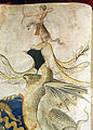 Località sconosciuta, commedia di dante, canto I, XIV secolo, pluteo 40.7, 03 cimiero.JPG