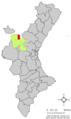 Localització de la Ièsa respecte del País Valencià.png