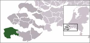 Cadzand - Image: Locatie Sluis