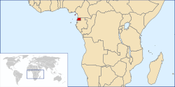 Location of Ekvatorijalne Gvineje