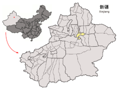Location of Ürümqi Prefecture within Xinjiang (China).png