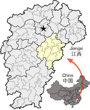 Location of Fuzhou within Jiangxi.png