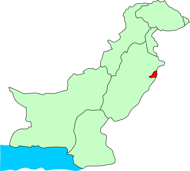 Soubor:Location of Lahore.png
