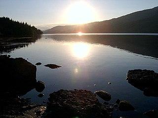 Loch Venachar lake in the United Kingdom