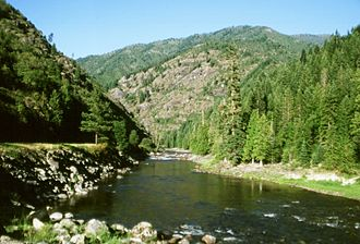 Clearwater Mountains - Scenic view of the Lochsa River in the Clearwater Forest of Idaho (United States)