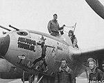 Lockheed P38 'Arkansas Traveler' at Clastres Airfield, France in October 1944.jpg