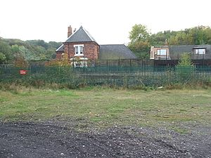 Loftus railway station - Site of the former station with stationmaster's house, 2009