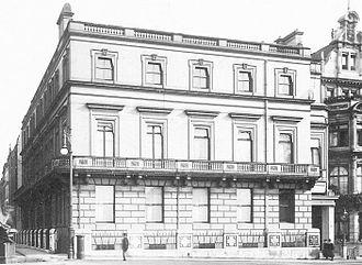 Park Lane - Londonderry House, 19 Park Lane, circa 1900.