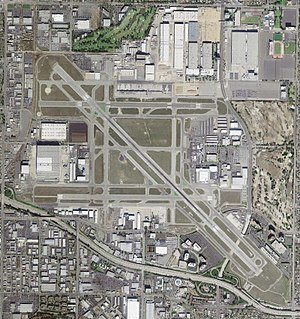 Long Beach Airport - USGS aerial image, March 2004