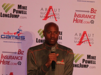 Mike Powell (long jumper) - Powell announces at press conference that he will attempt to break the World Masters record.