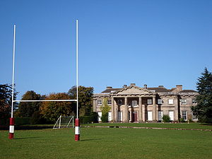 Adams' Grammar School - Adams' GS Longford Hall site viewed from the 1st XV rugby pitch