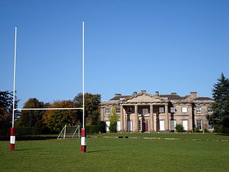 Haberdashers' Adams - Adams' GS Longford Hall site viewed from the 1st XV rugby pitch