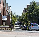 Looking down Isaac Hull Avenue at investigation - Washington Navy Yard shooting - 2013-09-17.jpg