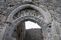 Lorrha Old St. Ruadhan's Parish Church Doorway Sculptured Chamfer 2010 09 04.jpg