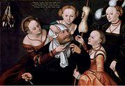 Lucas Cranach d.Ä. - Herkules bei Omphale (Herzog Anton Ulrich-Museum)