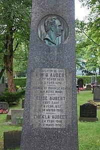 Ludvig Aubert og Elise Aubert, gravminne på Vår Frelsers gravlund, Oslo.jpg