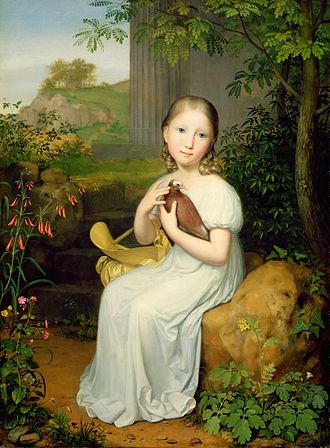 Countess Louise von Bose - Louise as a child (Portrait in the New Gallery; Kassel, Germany)