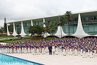Palácio da Alvorada - The Presidential Guard Battalion at the Palácio da Alvorada