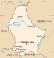 Χάρτης του Λουξεμβούργου.