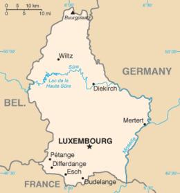 Lussemburgo - Mappa
