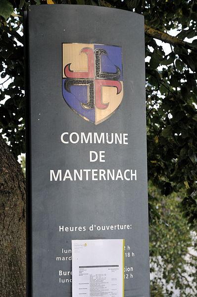 D'Schëld bei der Märei vu Manternach.