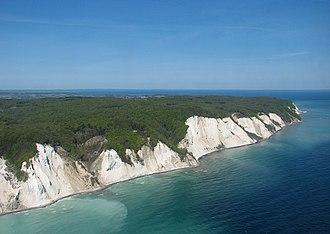 Møn - The white chalk Cliffs of Møn