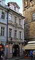 Měšťanský dům U Panny Marie Pomocné a U velké velryby (Malá Strana), Praha 1, Mostecká x Dražického nám. 2, Malá Strana.JPG