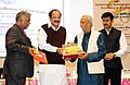 M. Venkaiah conferred the National Awards for Excellence in Journalism, at the Golden Jubilee celebrations of the Press Council of India, on the occasion of the National Press Day, in New Delhi.jpg