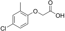 Structural formula of MCPA