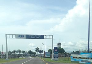 Tapachula International Airport - Airport's entrance.