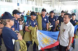 Humanitarian response to the 2015 Nepal earthquake - The MMDA Probe and Retrieval Team sent off to Nepal to assist in the relief efforts.