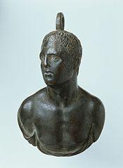 Poids de balance : buste d'homme (25613)