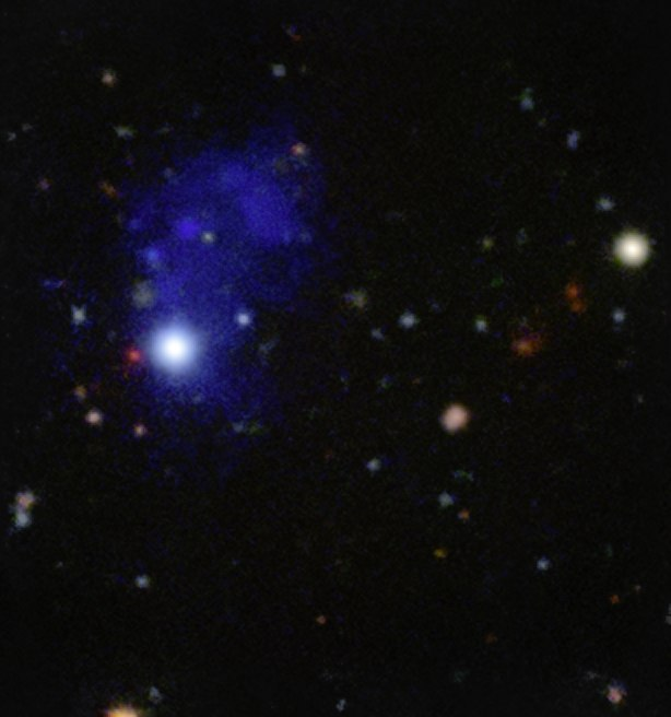 MUSE spies accreting giant structure around a quasar