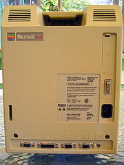 the rear shell of the phone mimics the back fan vents of the original macintosh