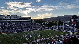 Mackay Stadium - View from the upper southeast corner during a 2015 game vs. New Mexico