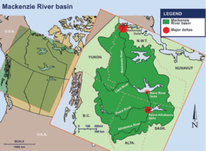Mallik gas hydrate site - Overview Map of the MacKenzie River Delta in Canada