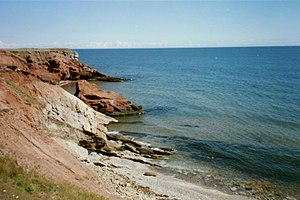 Magdalen Islands - Cliffs along the shore of Grosse Île