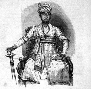 Maharajah of Travancore 1847.jpg