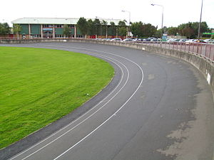 Maindy Centre - Maindy Pool (top left)  and Cycle Track