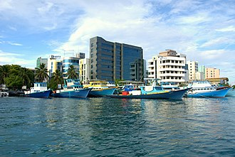 Maldivian rufiyaa - The modern building of the Maldives Monetary Authority