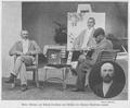 Maler Bukovac auf Schloß Oroslavje das Bildnis des Barons Vranicany malend 1903 ÖIZ.png