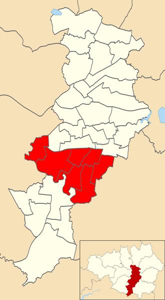 Manchester Withington (UK Parliament constituency) - Manchester Withington's wards