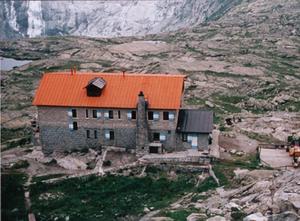 Standschützen - Mandron-Hütte, Stützpunkt der Standschützen an der Presena
