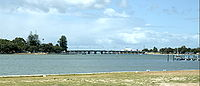Peel Inlet and Old Mandurah Bridge.