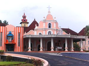 Kuriakose Elias Chavara - St. Joseph's Church Mannanam. The tomb of Chavara and Mother House of CMI Congregation are here