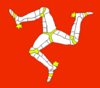 The triskelion appearing on the Isle of Man flag.