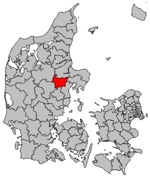Hvorslev - Image: Map DK Favrskov