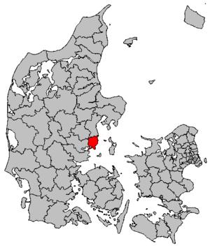 Odder Municipality - Location of Odder municipality