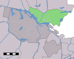 Amsterdam-Noord (green) as part of Amsterdam