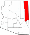 Map of Arizona highlighting Apache County.png